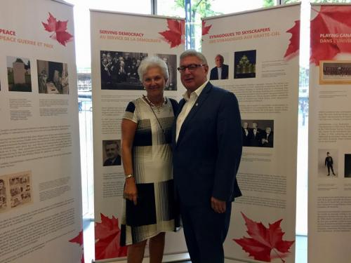 Honourable Myra Freeman Former Jewish LT Gov. of NS At the opening of the CJE Exhibit in Halifax